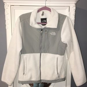 Women's White north face jacket